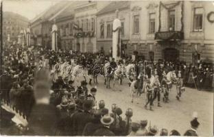 1916 Budapest, IV. Károly koronázása, gróf Tisza István nádorhelyettes, photo