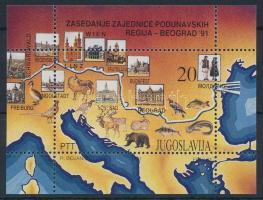 1991 Duna-menti országok konferenciája blokk Mi 40