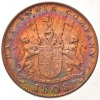 Brit-India / Kelet-Indiai Társaság / Madras 1808. 10C Cu (4x) dísztokban T:2,2- ph., kis patina British India / East India Company / Madras 1808. 10 Cash Cu (4x) in case C:XF,VF edge error, small patina Krause KM#320