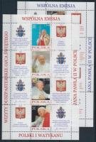 2004 II. János Pál pápa kisív sor Mi 4109-4116