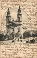 Budapest VIII. Józsefváros, Baross utca, római katolikus templom, Divald Károly kiadása (b)