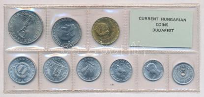 1982. 2f-10Ft (9xklf) érmés forgalmi sor fóliatokban T:1 Adamo FO15