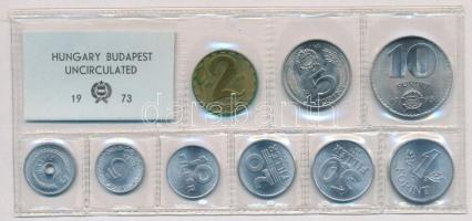 1973. 2f-10Ft (9xklf) érmés forgalmi sor fóliatokban T:1 Adamo FO6