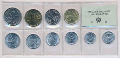 1988. 2f-20Ft (10xklf) érmés forgalmi sor fóliatokban T:1 Adamo FO21