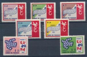 1961 Egyesült Európa sor Mi 986-992