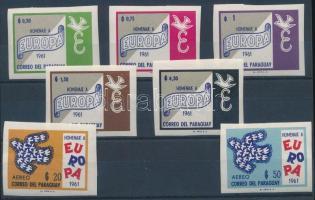 1961 Egyesült Európa vágott sor Mi 993-999