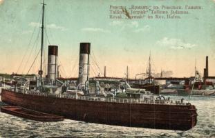 4 db RÉGI hajó motívumos képeslap; RMS Caledonia, Jermak, Stuttgart / 4 pre-1945 motive postcards; ships