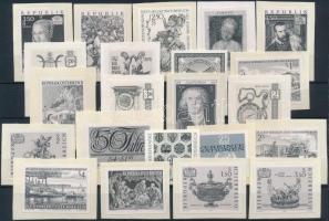 Ausztria 22 db fekenyomat bélyeg stecklapon