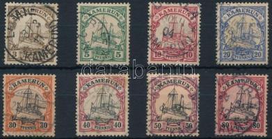Kamerun 1900 Császári jacht 8 klf érték Mi 7-10, 12-15