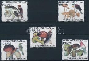 Türkmenisztán 2000 Gomba, madár 5 klf bélyeg