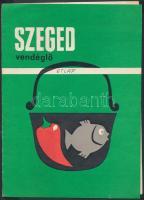 cca 1960-1970 Bp. XI., A Szeged Étterem étlapja
