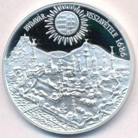 1986. 500Ft Ag Budavár visszavétele 1686 T:PP ujjlenyomat Adamo EM97