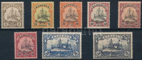Kamerun 1900 Császári jacht 8 klf érték Mi 7, 11-15, 17-18