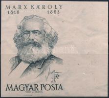 1953 Karl Marx ívszéli vágott bélyeg (8.000)
