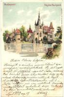 1899 Budapest XIV. Vajdahunyad vára, kiadja Szénásy és Reimann, Kosmos litho