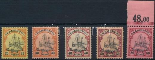 Kamerun 1900 Mi Császári jacht 5 klf érték Mi 11-15