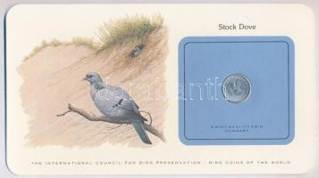 1973. 10f Al Világ madaras pénzérméi sorozatból Vadgalamb, angol nyelvű leírással T:1