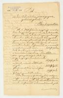 1884 Selmec, A m. kir. tekintetes jószágigazgatóságnak küldött levél a pjergi uradalom kegyúri jogainak és kötelezettségeinek ügyében