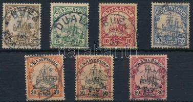 Kamerun 1900 Mi Császári jacht 7 klf érték Mi 7-10, 12, 14-15