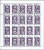 1997 Szent Adalbert hajtatlan teljes ív / Mi 4446 complete sheet