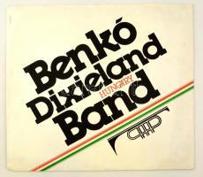 1985 A Benkó Dixieland Band album, a tagok karikatúráival (6 db) ofszet, papír, 42×42 cm