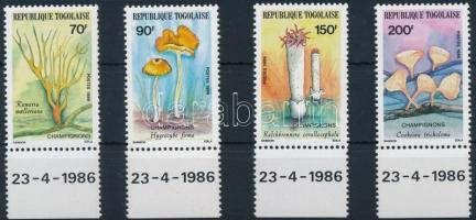 1986 Gomba ívszéli sor Mi 1966-1969