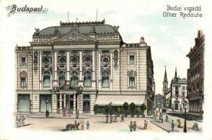 Budapest I. Budai Vigadó, litho