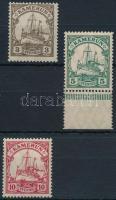 Kamerun 1905 Császári jacht 3 klf érték Mi 20, 21 I, 22a