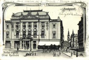 Budapest I. Budai Vigadó, Art Nouveau litho