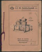 cca 1900 Kronstadt (Brassó), R. Goldschmidt Mühlenbauanstalt - Müllermaschinen (malomgépek katalógusa, ábrákkal)