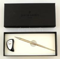 Pierre Cardin toll és tolltartó, eredeti dobozában, 18×8 cm