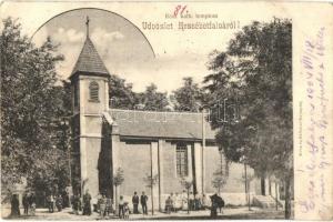 Budapest XX. Erzsébetfalva, római katolikus templom, Kohn és Grünhut kiadása (EK)