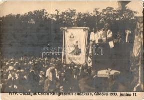 1933 Gödöllő, IV. Országos Credo Kongresszus, photo (non PC) (EK)