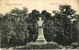 Kisbér, Kozma Ferenc szobor, Haftl Kálmán kiadása (EK)