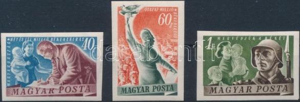 1950 Béke (III.) vágott sor (**13.000)