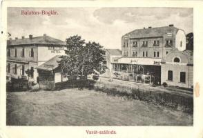 Balatonboglár, Vasúti szálloda, étterem, kávéház (vágott / cut)