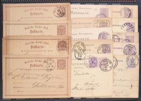 Deutsches Reich több mint 70 darabos díjjegyes gyűjtemény spirálos berakóban