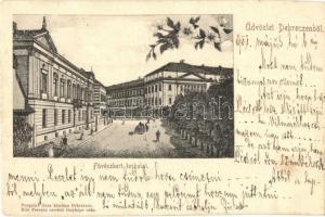 Debrecen, Füvészkert torkolat, Kiss Ferencz felvétele után, Pongrácz Géza kiadása