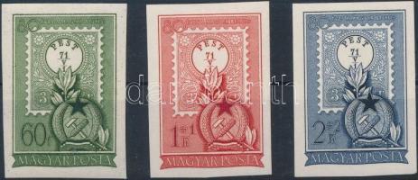 1951 Bélyegnap (24.) - 80 éves a magyar bélyeg vágott sor (**14.000)