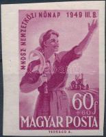 1949 Nőnap (I.) vágott bélyeg (**10.000)