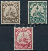 Samoa 1915 Császári jacht sor záróérték nélkül Mi 21-22