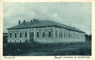 Sárospatak, Jegyzői internátus, csendőriskola