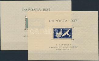 1937 DAPOSTA blokkpár Mi 1-2 (Mi EUR 32,-)