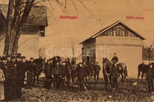 Mezőhegyes, csikó ménes, huszárok, Auspitz Lajos kiadása (vágott / cut)