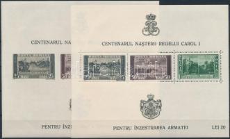 1939 I. Károly király 100 éves blokksor Mi 3-8 (Mi EUR 50,-)