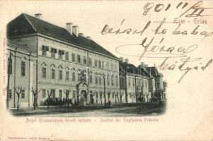 Eger, Angol Kisasszonyok nevelőintézete, Landesmann Adolf kiadása (EK)