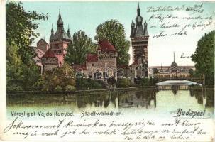 Budapest XIV. Vajdahunyad vára, litho (kis szakadás / small tear)