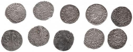 10db-os vegyes dénár tétel, közte 1526K-A Dénár Ag II. Lajos (0,65g), 1534K-B Dénár Ag Ferdinánd (0.48g), 1631K-B Dénár Ag II. Ferdinánd (0.34g) T:2,2-,3