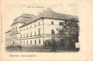 Sárospatak, Evangélikus református főiskola és a könyvnyomdája, Trócsányi B. kiadása (EK)