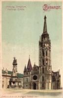 Budapest I. Mátyás templom, litho